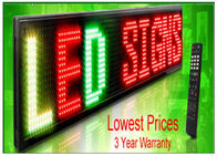Outdoor Programmable LED Signs Multi Language , Wireless LED Scrolling Message Display Board