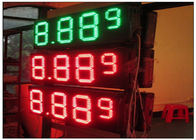 20'' Red / green color LED Gas Station Sign for Fuel advertising Petrol , 8000nits Brightness